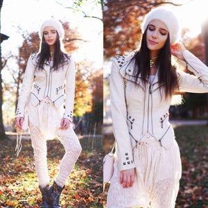 One Teaspoon Cotton Lace Harem Pants XS EUC